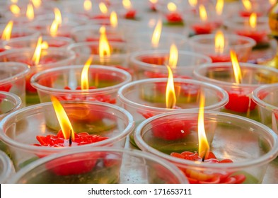 Flower candle in Chinese temple
