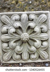 Flower carved in stone