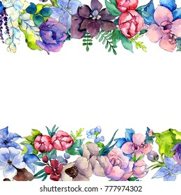 flower border images  stock photos   vectors shutterstock Floral Wallpaper Floral Graphics