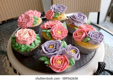 Cupcake And Flower Images Stock Photos Vectors