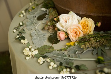 Flower Decorated on Table in Wedding
