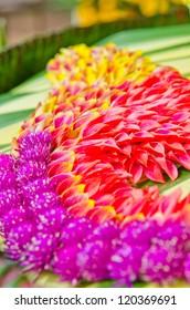 Flower decoration background made from flower, Thailand.