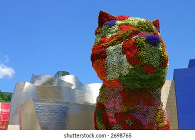 Flower dog from Bibao, Spain