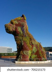 The Flower Dog in Bilbao, Spain