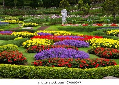 Flower garden in north of Thailand