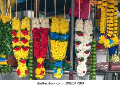 flower garlands for dedications in Hindu rituals and for decoration on festive occasions for sale.
