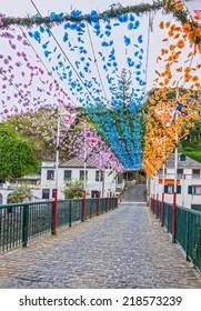 Flower girlands decoration, Madeira island, Portugal