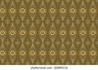Flower gold and pattern close