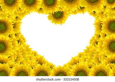 flower heart frame