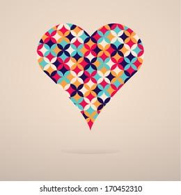 flower heart illustration for Valentine's Day