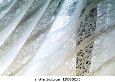 Flower lace curtain