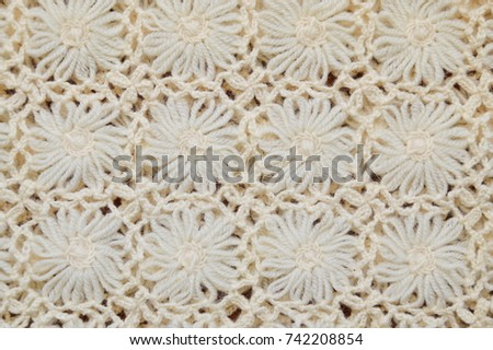 Flower Lace Knitting Wool Texture Background Stock Photo Edit Now