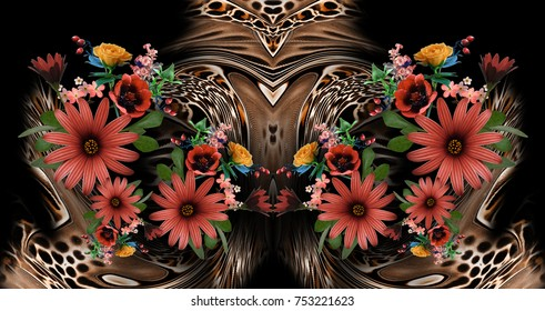 flower leopard background