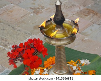 flower light tradition vilakku deepam