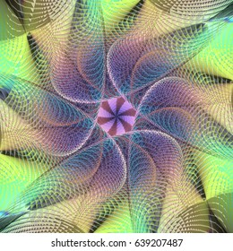 Flower look alikee structure created from Fractal Formation