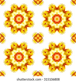 Flower Mandala seamless pattern design for wallpaper, packaging, fabric and so on.