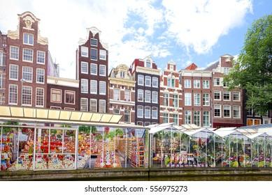Floating Flower Market.Amsterdam Market Flowers Images Stock Photos Vectors