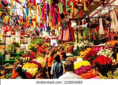 Flower Market. San Miguel de Allende. June 2015, Mexico.
