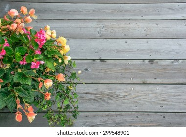 flower on wood background