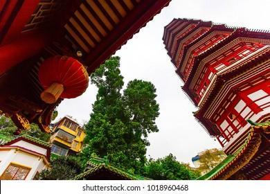 Flower Pagoda of temple of Six Banyan Trees