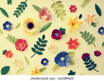 Flowers handmade design papercraft art stock photo edit now flower paper craft nature decoration mightylinksfo