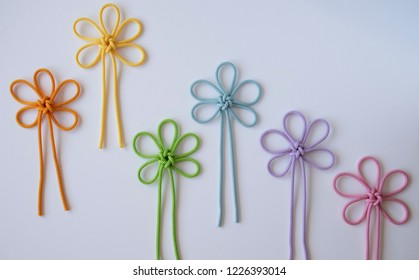 Flower patterned colorful knots