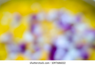 flower petals in water with blur. Used for watering ceremony Blessing the Elderly on Songkran festival of Thailand.we used for monks and buddha statue too.
