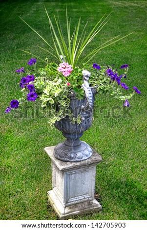 Flower Plant Bouquet Decorative Garden Urn Stock Photo Edit Now
