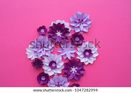 Flower Plant Floral Nature Designs Colourful Handmade Stock Photo