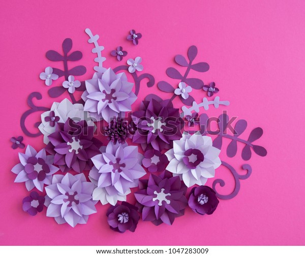 Flower Plant Floral Nature Designscolourful Handmade Stock Photo
