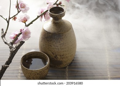 Flower Of Plum And Sake