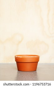 Flower Pot with wooden background
