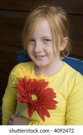 flower power from a little girl with freckles