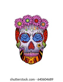 Flower Power Sugar Skull