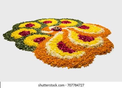 flower rangoli pictures