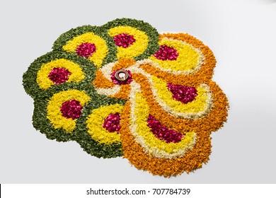 Flower rangoli images photos — 1