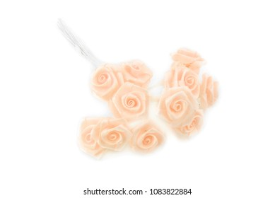 flower roses bouquet fabric isolated on white