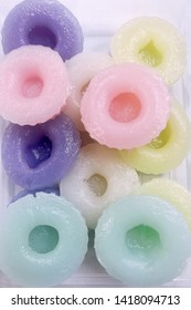 Flower scented Thai sweet dessert in pastel color
