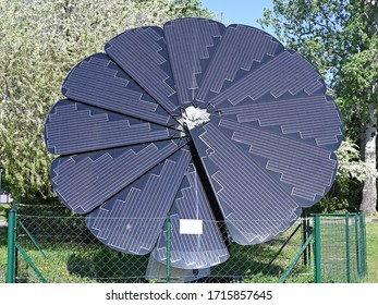 flower shaped solar panels in Vienna