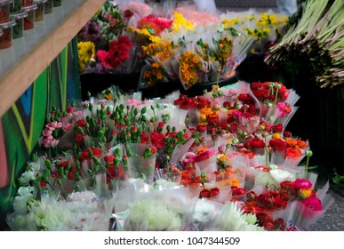 Flower Shop at the Jerusalem market