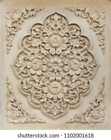 Flower stone carving