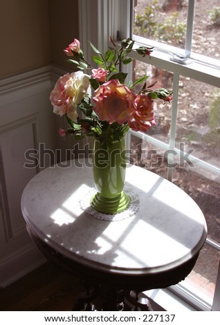 Flower Vase On Table Next Window Stock Photo Edit Now 227137