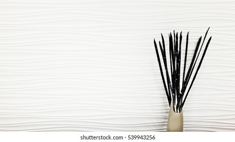 flower vase on white background,in white tone