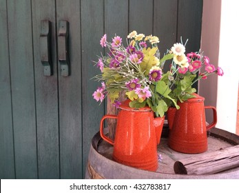 Flower in the watering can