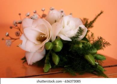 Flower wedding badge