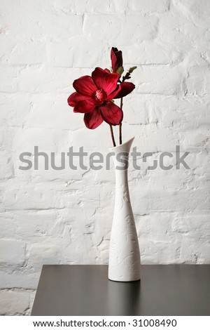 Flower White Vase On Table Stock Photo Edit Now 31008490