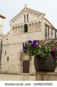 Flowerbed in front of a church