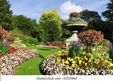 Flowerbeds in a Formal Garden