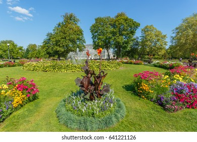 Flowerbeds in the Garden Society of Gothenburg
