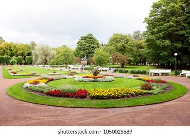 Flowerbeds in Kadriorg park, Tallinn